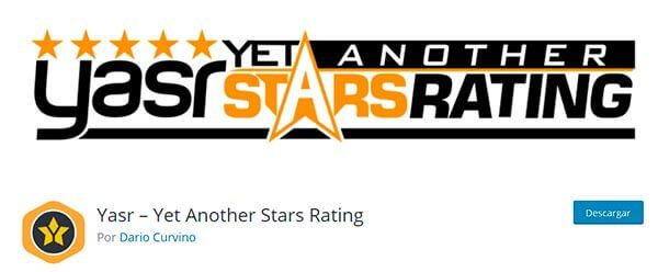 Plugin Yet Another Stars Rating