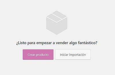 WooCommerce crear primer producto